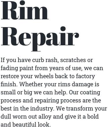 Rim Repair and Custom Coloring