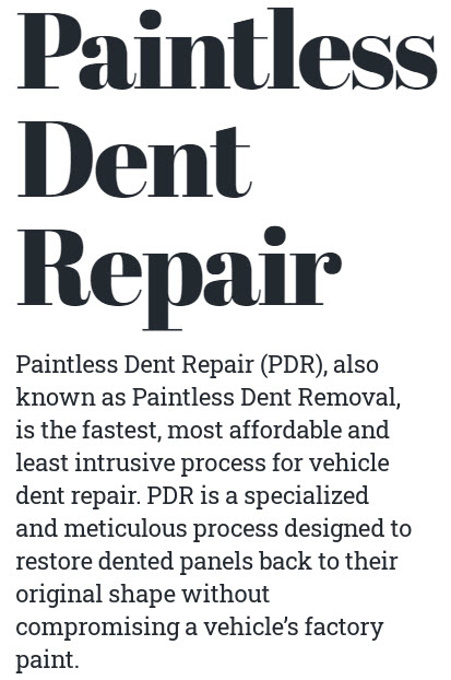 Auto Dent Repair and Hail Damage